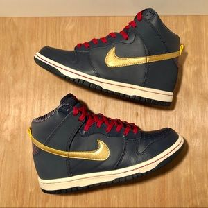 Nike Dunk High GS 'Obsidian Gold'